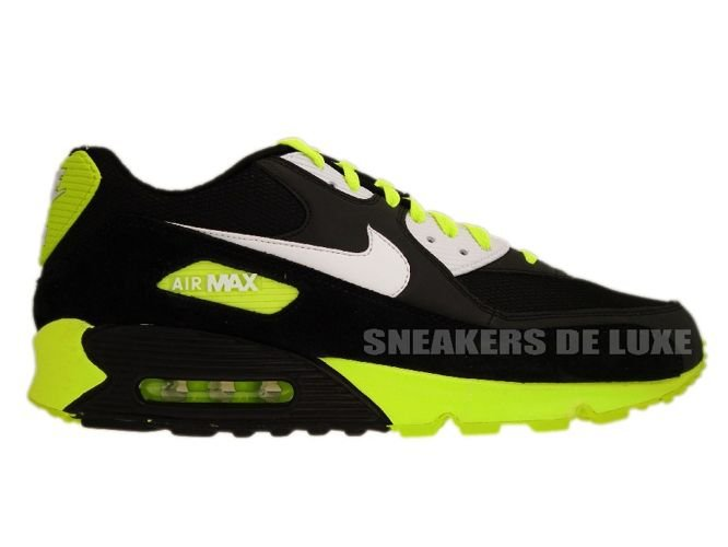 ... br volt; 325018 099 nike air max 90 black white volt