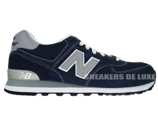 new balance leather 574 Silver