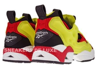 1-J88613 Reebok Insta Pump Fury OG 2012 Black/Firecracker Red/Yellow