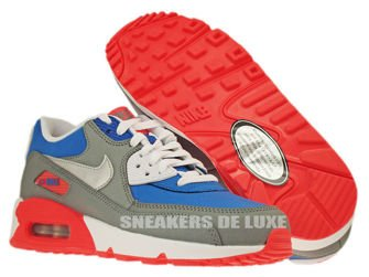 307793-407 Nike Air Max 90 Military Blue-Metallic Silver-White-Laser Rose