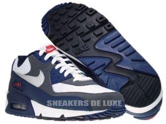 325018-098 Nike Air Max 90 Midnight Navy/Metallic Silver-Dark Grey