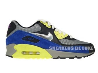 325213-025 Nike Air Max 90 Medium Grey/Silver-Black-Volt
