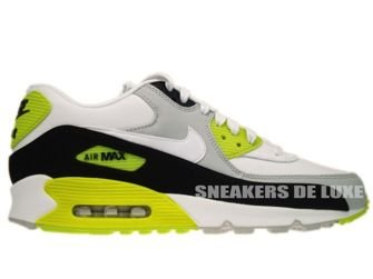 333888-018 Nike Air Max 90 Premium Strat Grey/White-Black-Cyber