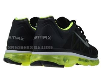 429889-007 Nike Air Max 2011+ Black/Metallic Cool Grey-Volt