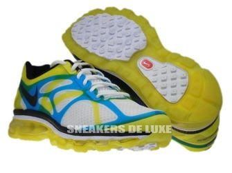 487982-107 Nike Air Max+ 2012 White/Black-Lemon Twist-Current Blue