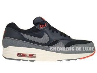 537383-008 Nike Air Max 1 Essential Black/Cool Grey-Anthracite-Team Orange