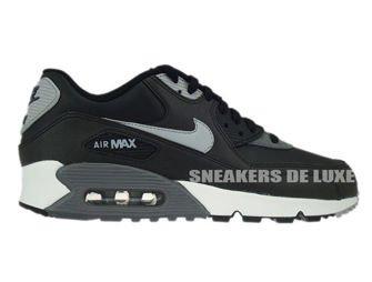537384-003 Nike Air Max 90 Essential Black/Silver-Dark Grey-Black