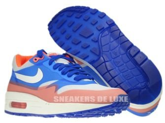 579758-001 Nike Air Max 1 Premium Hyperfuse Pure Platinum/Sail-Hyper Blue-Total Crimson