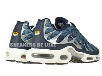 604133-449 Nike Air Max Plus TN 1 Blue Shadow/Midnight Navy-Metallic Silver