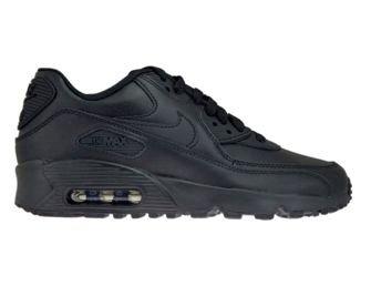 Nike Air Max 90 GS 833412-001 Leather Black/Black