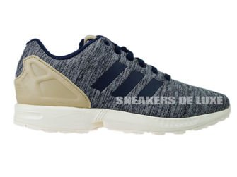 AQ3097 adidas ZX Flux Collegiate Navy/St Pale Nude F13/Chalk White