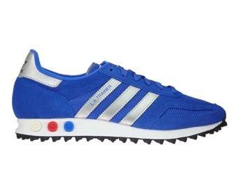 CQ2279 adidas LA Trainer Hi-Res Blue/Metallic Silver