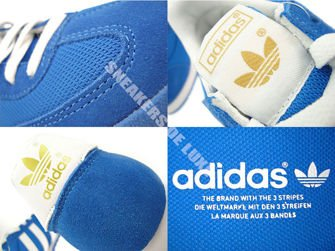 G50922 adidas Dragon Bluebird / Metallic Gold / White