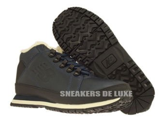 H754LFN New Balance Navy Leather Fur