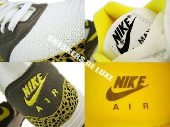Nike Air Max 1 White/Voltage Yellow-Metallic 308866-171