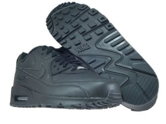 Nike Air Max 90 302519-001 Leather Black/Black