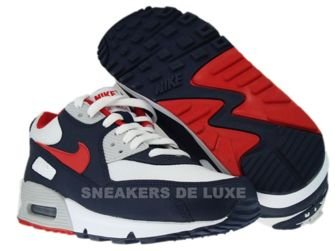 Nike Air Max 90 Obsidian/Sport Red-White-Neutral Grey 309299-400