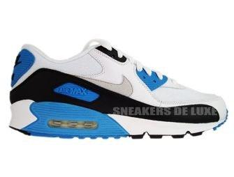 Nike Air Max 90 White/Black-Zen Grey-Laser Blue 325018-108