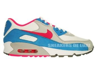 Nike Air Max 90 White/Pink Flash-Marina Blue 309298-104