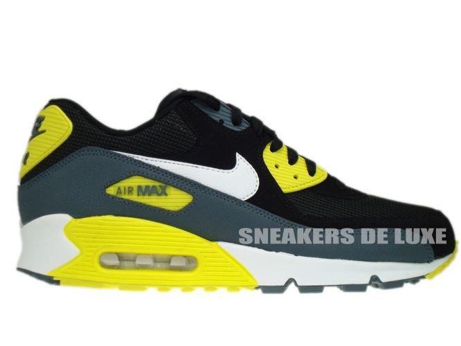 free shipping 0a0fc c9b01 537384-017 Nike Air Max 90 Essential Black White-Sonic Yellow-Armory ...