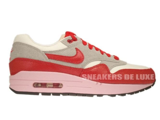 cheap for discount 432b6 bd46b 555284-103 Nike Air Max 1 Vintage SailHyper Red-Street Grey- ...