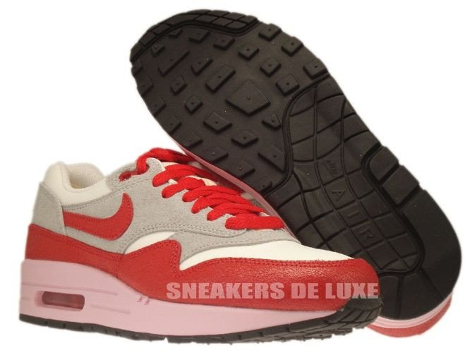 finest selection d8534 83810 ... 555284-103 Nike Air Max 1 Vintage Sail Hyper Red-Street Grey- ...