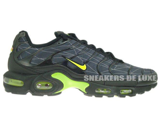 647315-070 Nike Air Max Plus TXT TN 1 Black Volt-Dark Grey 647315 ... 183d49aff