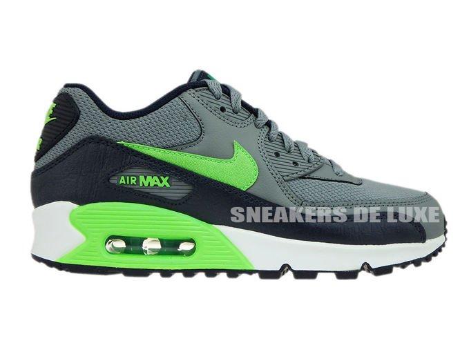 c61c1167a0e2 724824-013 Nike Air Max 90 Cool Grey Voltage Green-Obsidian-Lucid ...