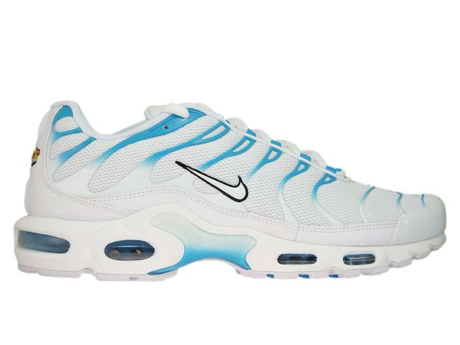 852630 105 Nike Air Max Plus TN 1 WhiteWhite Lt Blue Fury