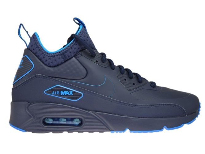 Nike Footwear Air Max 90 Mid Winter Sneakerboots Squadron Blue Black