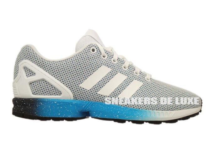 996c080dd AF6326 adidas ZX Flux ftwr white   solar blue2 s14   dark blue ...