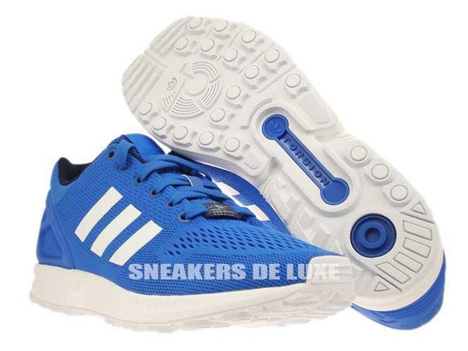 475820642 B34511 adidas ZX Flux Blue   Ftwr White   Core Black B34511 adidas ...