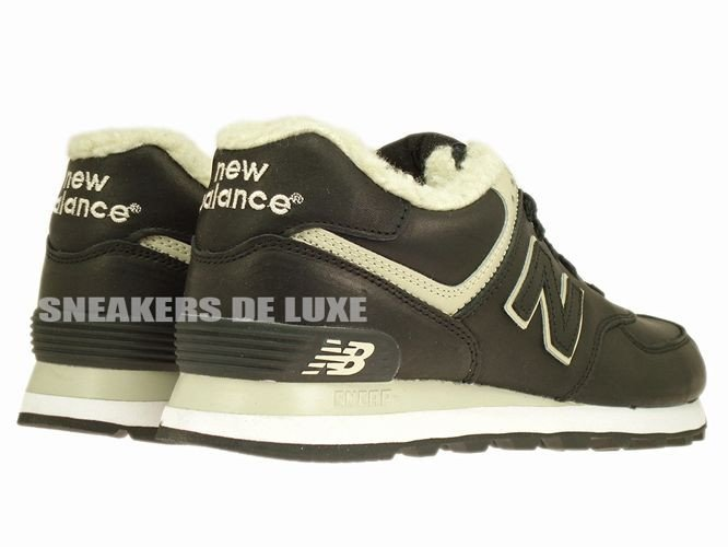 ML574BL New Balance 574 Black Leather ML574BL New Balance \ mens |