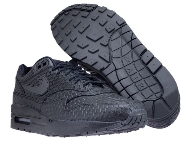 low priced ca534 ac51d ... Nike Air Max 1 Premium 454746-014 Black Black-Anthracite ...