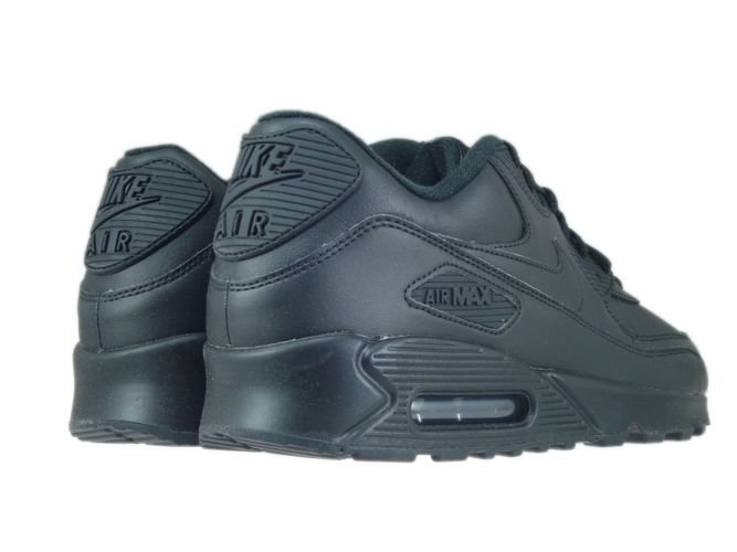 the best attitude 3c864 74a58 ... Nike Air Max 90 302519-001 Leather Black Black