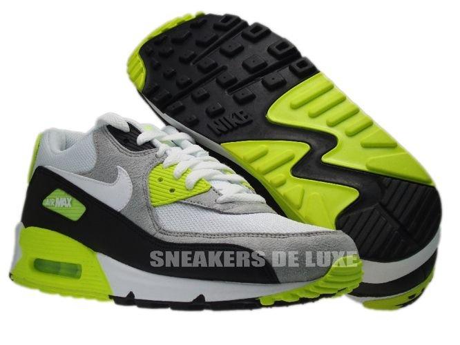 reputable site 45659 e6b29 ... Nike Air Max 90 Black White-Medium Grey-Volt 325018-048 ...