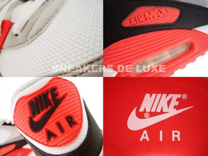 Nike Air Max 90 WhiteCement Grey Infrared Black 325018 107