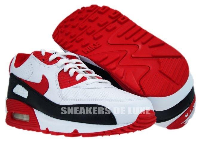 Nike Air Max 90 WhiteSport Red Black 375572 101