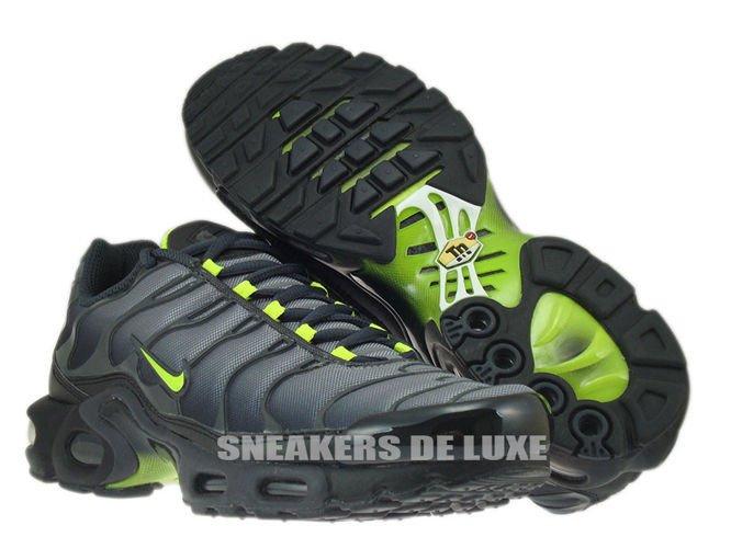 online store 04889 055d1 Nike Air Max Plus TN 1 Black/Cool Grey-Neon Green 605112-070 ...