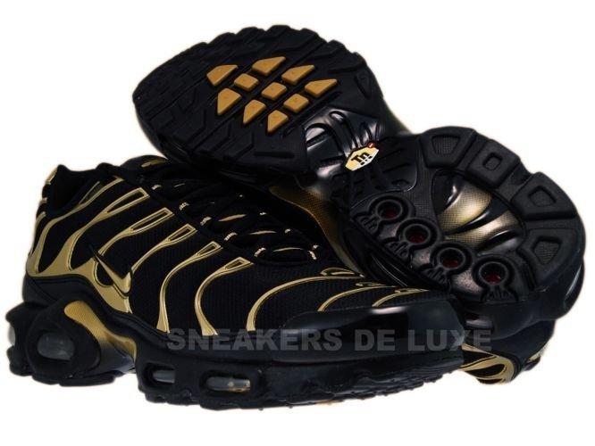 newest 50a9e 8e294 Nike Air Max Plus TN 1 Black/Metallic Gold-Black 605112-020 ...