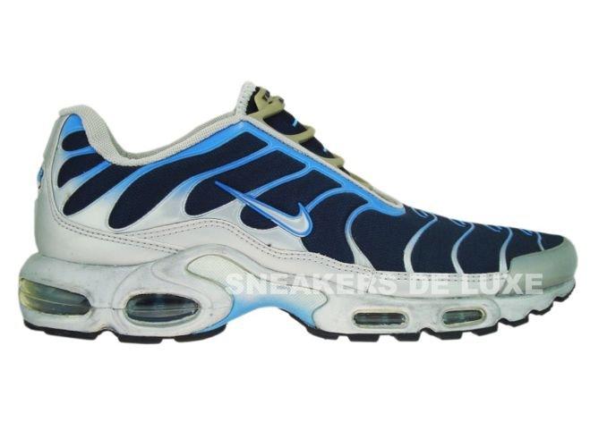 bf548131986 Nike Air Max Plus TN 1 Slip On Silver/Blue 302556-401 Nike \ mens