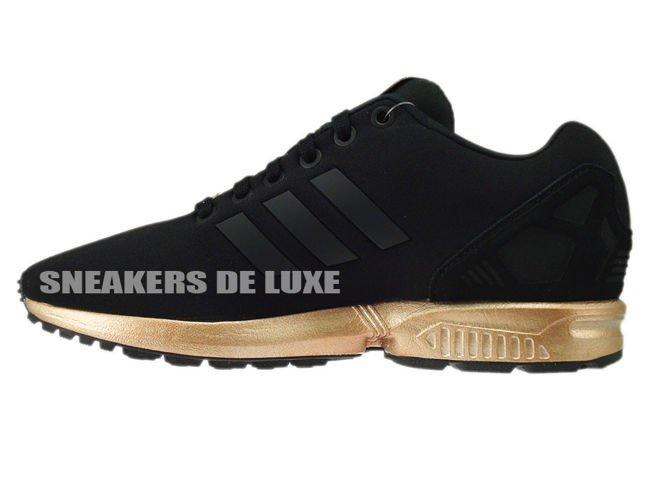 newest c215a b1323 S78977 adidas ZX Flux core black / core black / copper ...