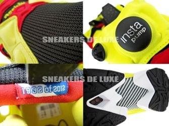 1-J88613 Reebok Insta Pump Fury OG 2012 Black/Firecracker Red/Yellow