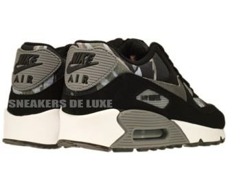 307793-084 Nike Air Max 90 Black/Metallic Dark Grey-Total Orange-Classic Grey