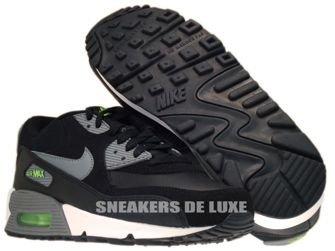 307793-085 Nike Air Max 90 Black/Cool Grey-Flash Lime-White 307793-085