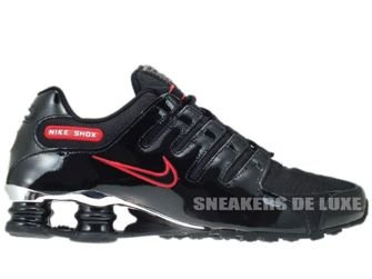325201-025 Nike Shox NZ EU Black/Black-Sport Red