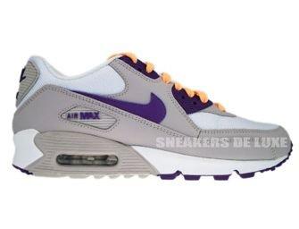 325213-009 Nike Air Max 90 Tech Grey/Club Purple-White