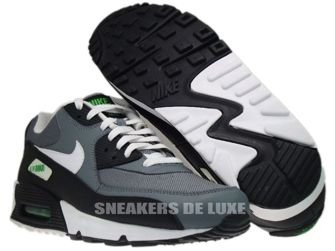 345188-012 Nike Air Max 90 Cool Grey/White-Hyper Verde