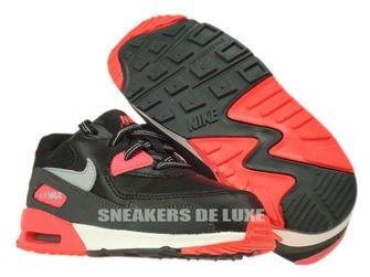 408110-080 Nike Air Max 90 TD Black/Wolf Grey-Atomic Red-Anthracite