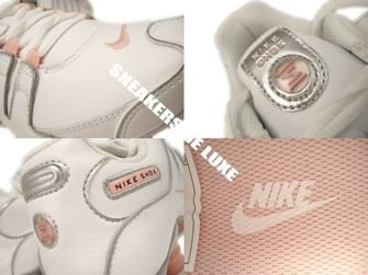 415245-116 Nike Shox NZ White/White-Storm Pink-Metallic Silver